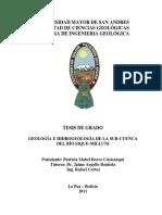 Patricia Mabel Bravo Cusicanqui - Geología e Hidrogeología de la Sub-Cuenca del Río Sique-Milluni(2)