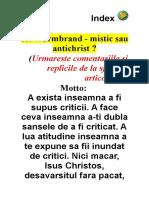 Wurmbrand - mistic sau antichrist