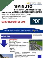 Construccion de vias - UM-Clase 1