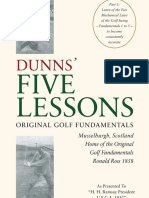 DUNNS' FIVE LESSONS Musselburgh 1897 Scotland