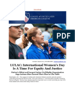 LULAC International Womens Day is a Time for Equity and Justice