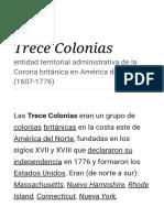 Trece Colonias - Wikipedia, la enciclopedia libre