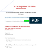 Test Bank for Law for Business 12th Edition James Barnes