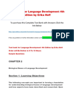 Test Bank for Language Development 4th Edition by Erika Hoff