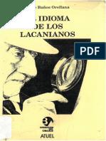 El idioma de los lacanianos - Jorge Baños Orellana