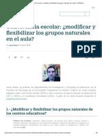 Convivencia escolar_ ¿modificar y flexibilizar los grupos naturales en el aula_ - EDUforics