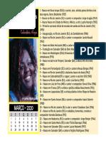 Calendário Negro 2020 - Março