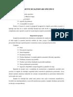 DOCUMENTE DE RAPORTARE SPECIFICE