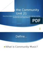 music in the community unit 21