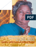 WHO (2007) Reducing Salt in Populations