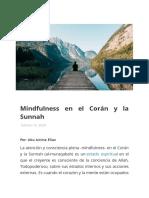 Mindfulness en el Corán y la Sunnah