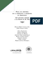 Cucuruzza. Para una historia de la enseñanza y escritura en Argentina.