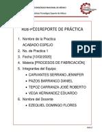 REPORTE DE PRÁCTICA ACABADO ESPEJO