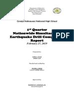 ACR EARTHQUAKE DRILL 1ST QUARTER FEB 27