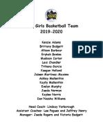 bms girls basketball team 19-20