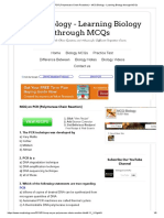 MCQ on PCR (Polymerase Chain Reaction) _ MCQ Biology - Learning Biology through MCQs