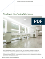 Three Steps to Sizing Plumbing Piping Systems