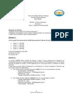 TD 1 Gestion financiere