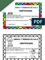 certificado 1ª semana de aula