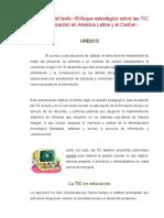 Resumen del texto enfoque de las TIC en A L