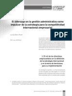 El liderazgo en la gestión administrativa como eje de competitividad