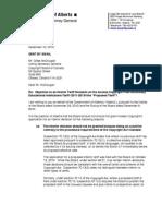 ALBERTA Letter - Access Copyright - Response to Interm Decision Applica