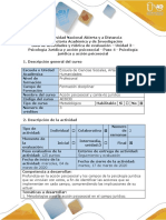 Guía de actividades y rubrica de evaluación - Paso 4 - psicología jurídica y acción
