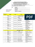 1.1 Jadwal Perkuliahan Histologi Fix