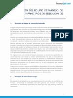 I. SELECCIÓN DEL EQUIPO DE MANEJO DE MATERIALES Y PRINCIPIOS DE SELECCIÓN DE EQUIPO