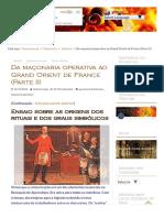 Da maçonaria operativa ao Grand Orient de France (Parte II) - Freemason.pt