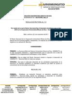 RESOLUCION CALENDARIO ACADEMICO 2018