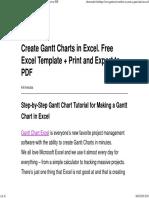 Create Gantt Charts in Excel