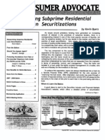 Researching Subprime Loan Securtizations Kevin Byers Naca Subprime Article