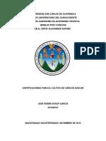 Certificaciones  aplicadas al entorno del cultivo de caña de azúcar