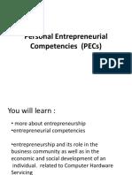 Personal Entrepreneurial Competencies  (PECs)