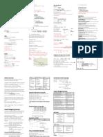 Finance Formula Sheet