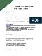 Lecciones para hacer una pagina web con Web Page Maker
