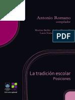 Antonio Romano (comp.) - La tradición escolar