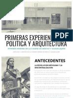 PRIMERAS EXPERIENCIAS EN POLITICA Y ARQUITECTURA EN LA VIVIENDA MINIMA