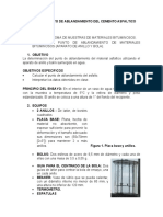 ENSAYO DE PUNTO DE ABLANDAMIENTO DEL CEMENTO ASFALTICO