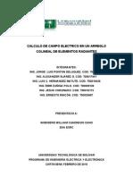 Calculo de Campo Electrico en Un Arreglo Colineal de Elementos Radiantes