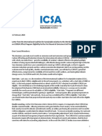 ICSA Letter to the ICAO Council