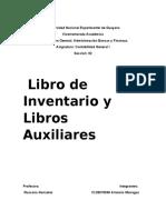 Libro de inventarios y balance y libro Auxiliares