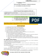 guía DE APLICACIÓN 8º LA SOCIEDAD COLONIAL EN CHILE