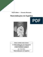 Materializacoes de Espiritos - Ernesto Bozzano