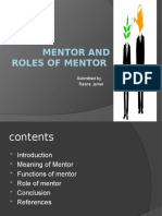 Mentor and roles of mentor