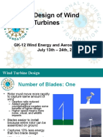 Design of Wind Turbines