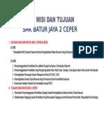 VISI DAN MISI SMK BATUR JAYA 2 CEPER KLATEN.doc