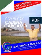 PROGRAMA DE GOBIERNO CARLOS CADENA CARCAMO 2019 CANDIDATO ALCALDIA