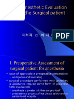 Pre Anesthetic Evaluation of the Surgical Patient